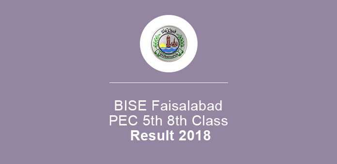 BISE Faisalabad PEC 5th 8th Class Result 2020