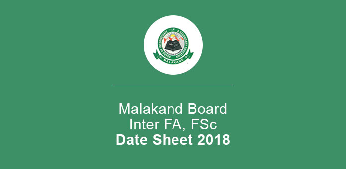 BISE Malakand Inter 11th 12th Annual Date Sheet