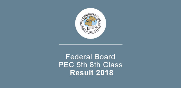 Federal Board 5th 8th Class Annual Result 2019