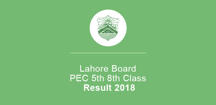 Lahore Board PEC 5th 8th Class Annual Result 2020