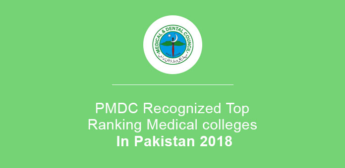 PMDC Recognized Top Ranking Medical colleges In Pakistan 2020