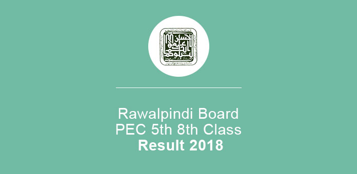 Rawalpindi Board PEC 5th 8th Class annual result 2020