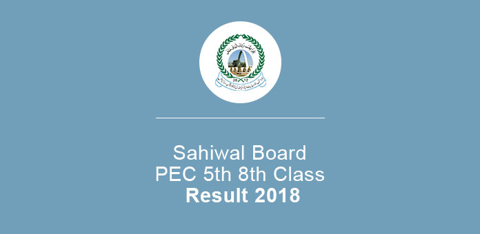 Sahiwal Board PEC 5th 8th Class Annual Result 2020