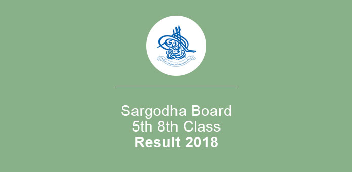 Sargodha Board 5th 8th Class Result 2019 Check Online