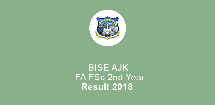 BISE AJK Mirpur Board FA FSc 2nd Year Result 2018