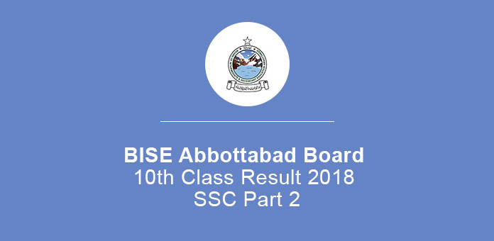 BISE Abbottabad Board 10th Class Result 2020 SSC Part 2