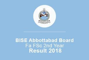 BISE Abbottabad Board FA FSc 2nd Year Result 2019