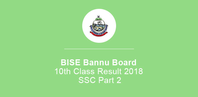 BISE Bannu Board 10th Class Result 2020 SSC Part 2
