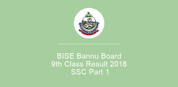BISE Bannu Board 9th Class Result 2019 SSC Part 1