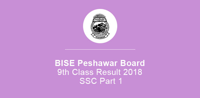 BISE Peshawar Board 9th Class Result 2019 SSc Part 1