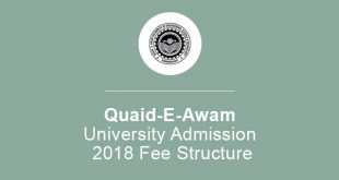 Quaid-E-Awam University Admission 2018 Fee Structure